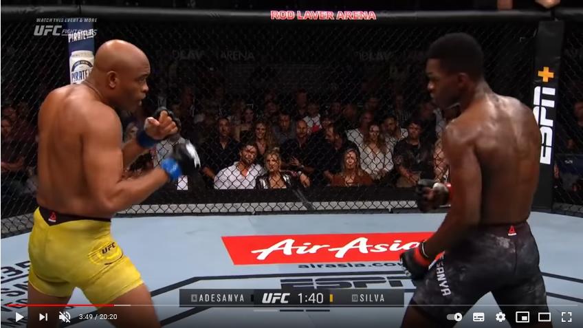 Anderson Silva vs Israel Adesanya: duelo de MMA entre dos strikers