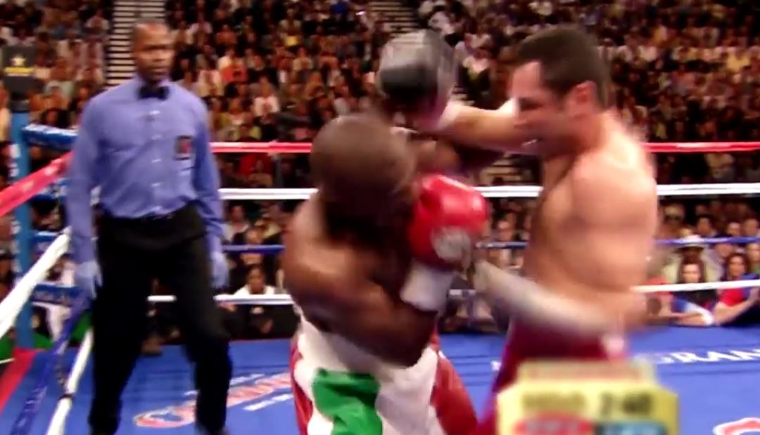 Oscar de la Hoya vs Floyd Mayweather highlights… wow!