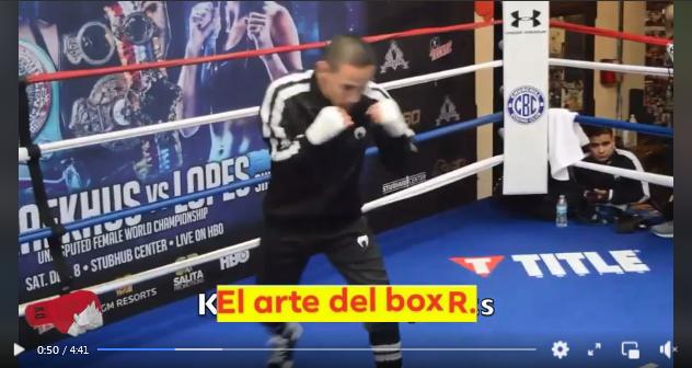 """Flyweight Francisco """"El Gallo"""" Estrada shadowboxing"""